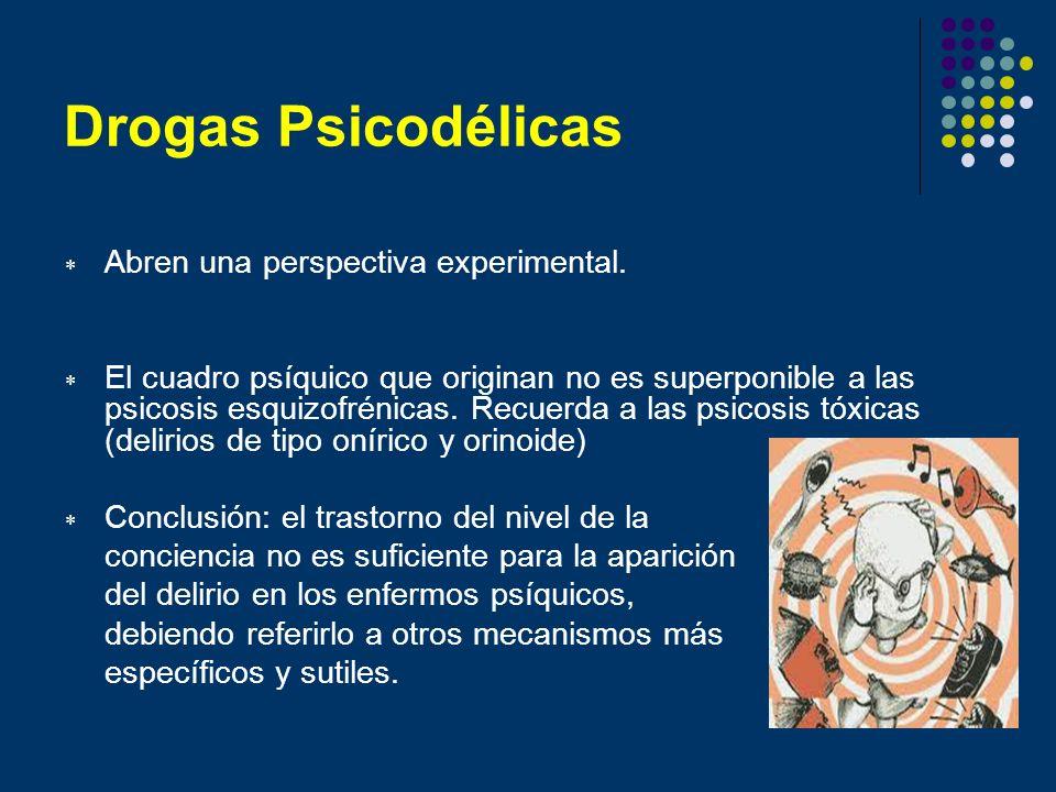 Drogas Psicodélicas Abren una perspectiva experimental.