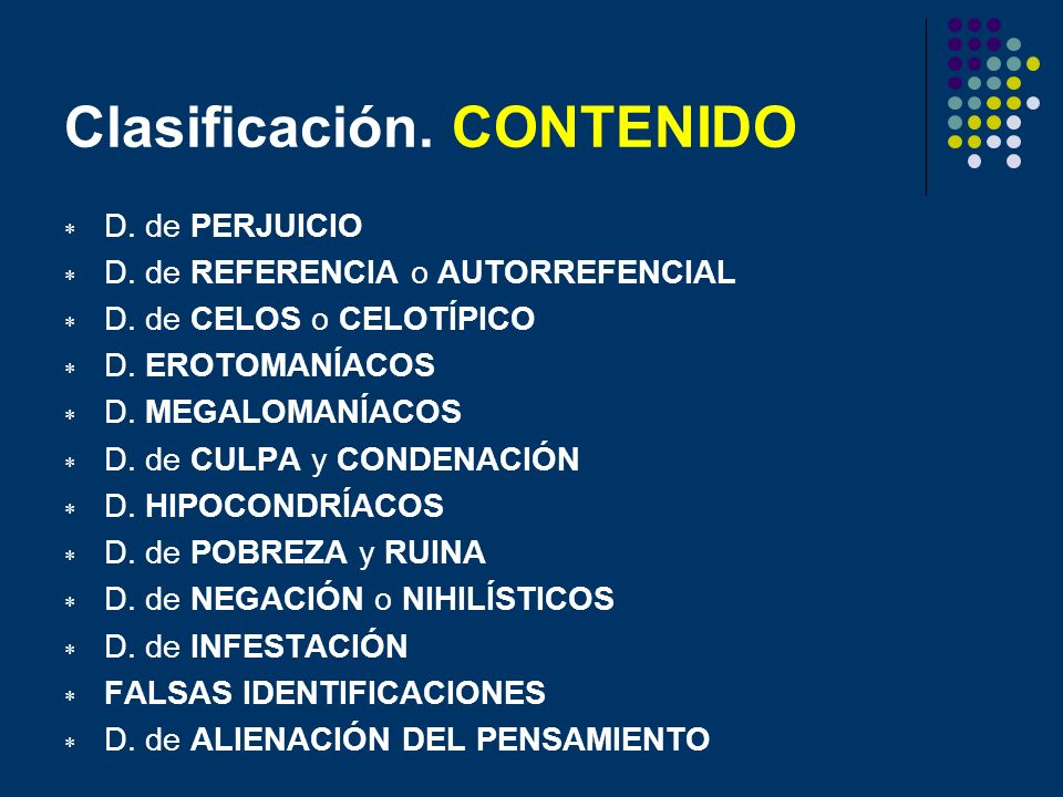 Clasificación. CONTENIDO