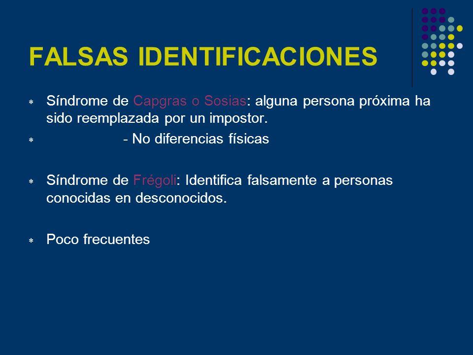 FALSAS IDENTIFICACIONES