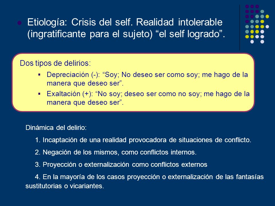 Etiología: Crisis del self