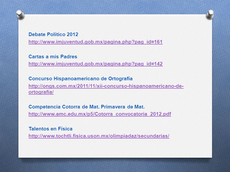 Debate Político 2012 http://www. imjuventud. gob. mx/pagina. php