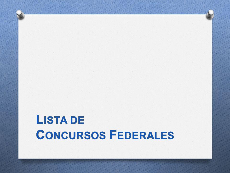 Lista de Concursos Federales