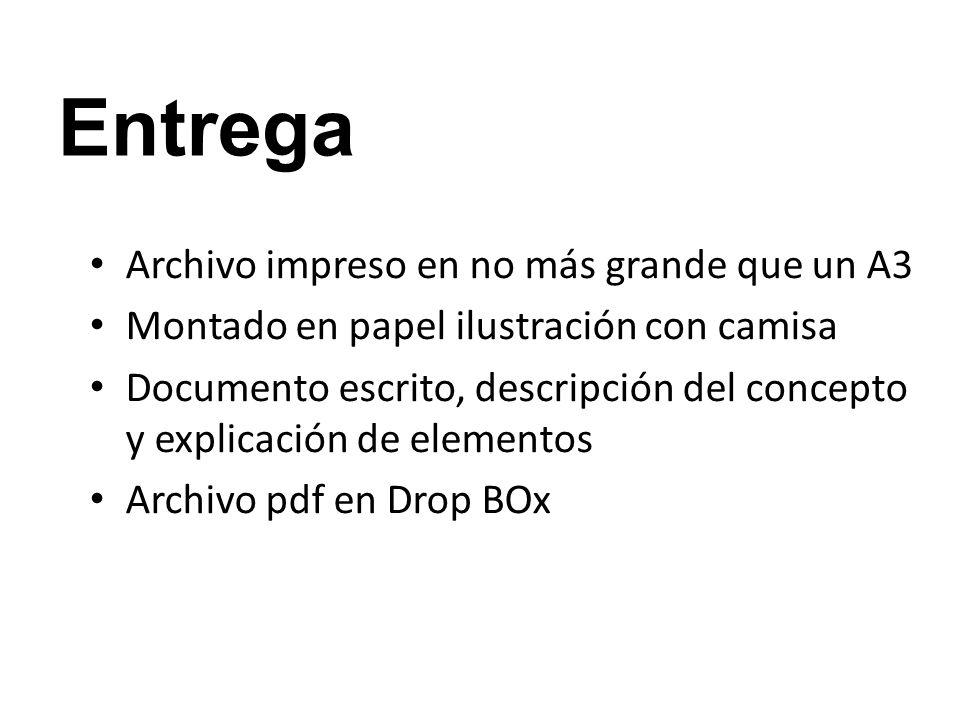 Entrega Archivo impreso en no más grande que un A3