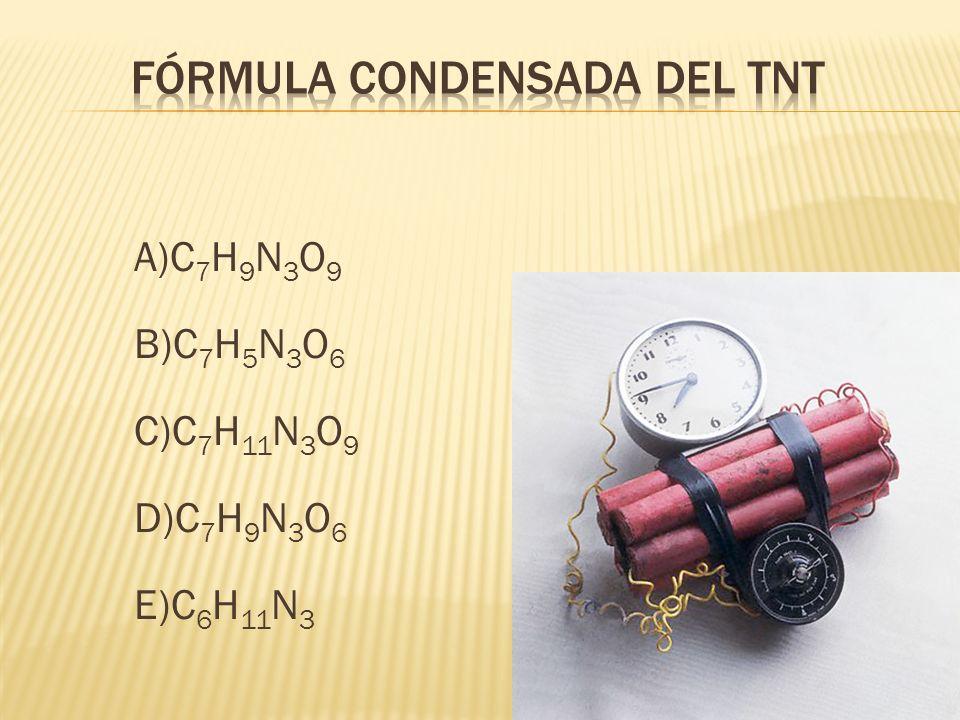 Fórmula condensada del TNT