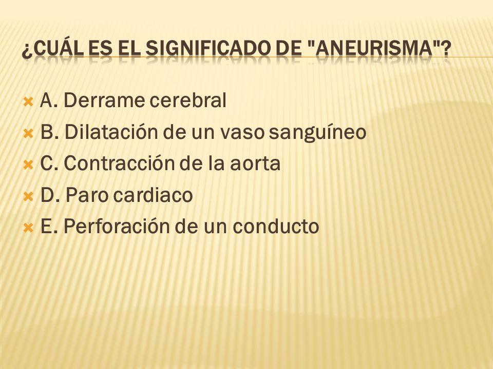 ¿Cuál es el significado de Aneurisma