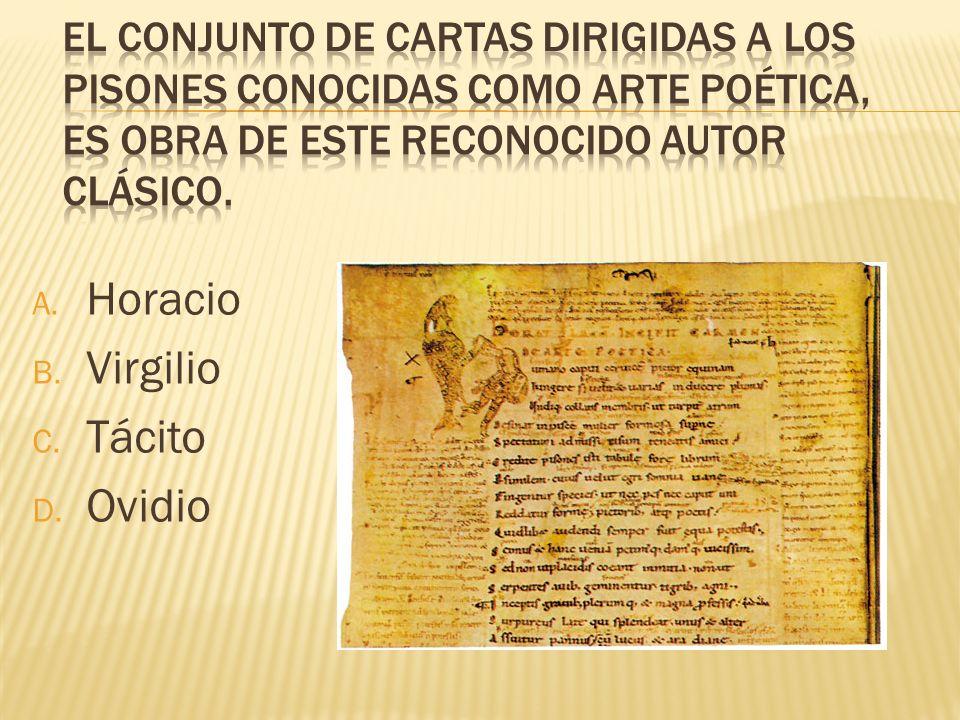 Horacio Virgilio Tácito Ovidio