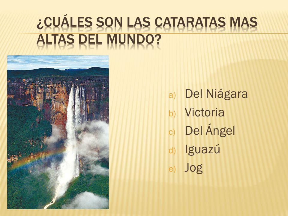 ¿Cuáles son las cataratas mas altas del mundo