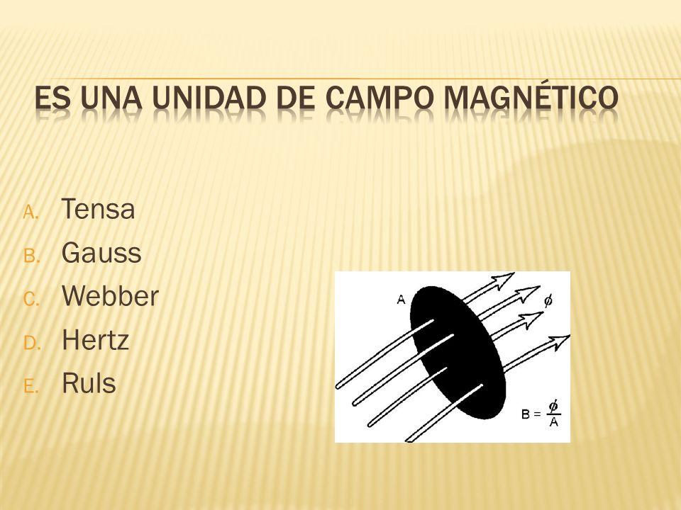 Es una unidad de campo magnético