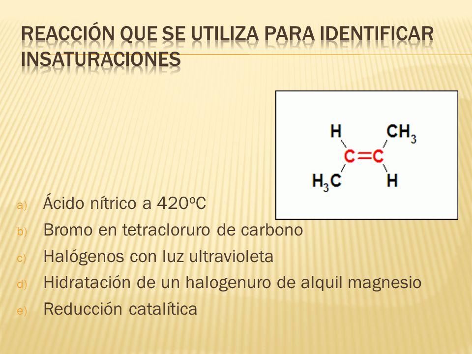 Reacción que se utiliza para identificar insaturaciones