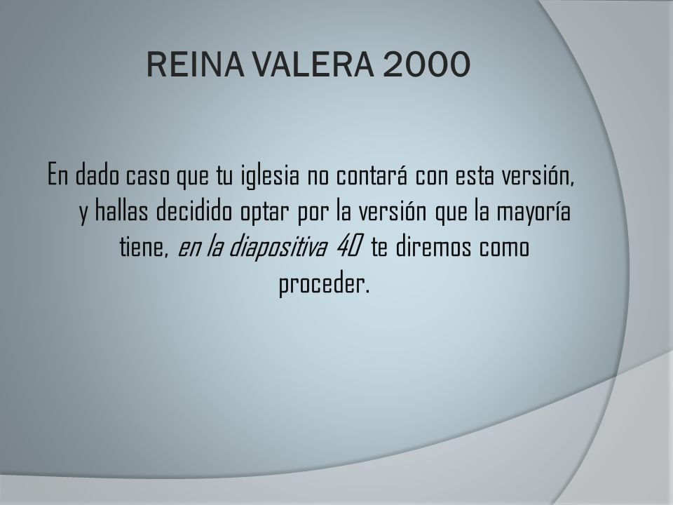 REINA VALERA 2000