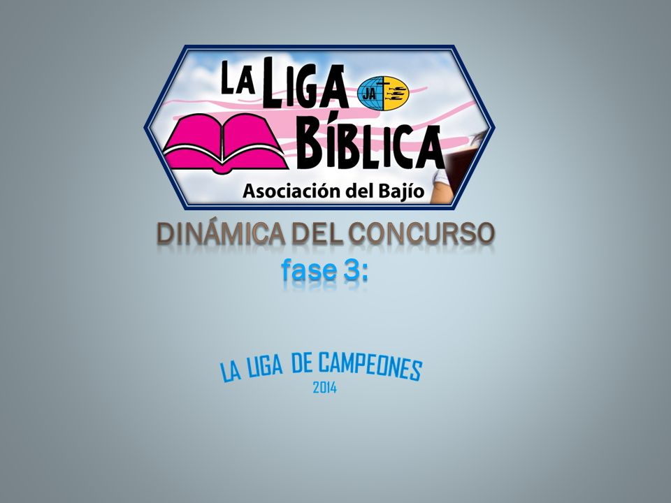 DINÁMICA DEL CONCURSO fase 3: