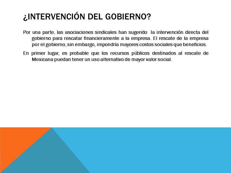 ¿Intervención del Gobierno