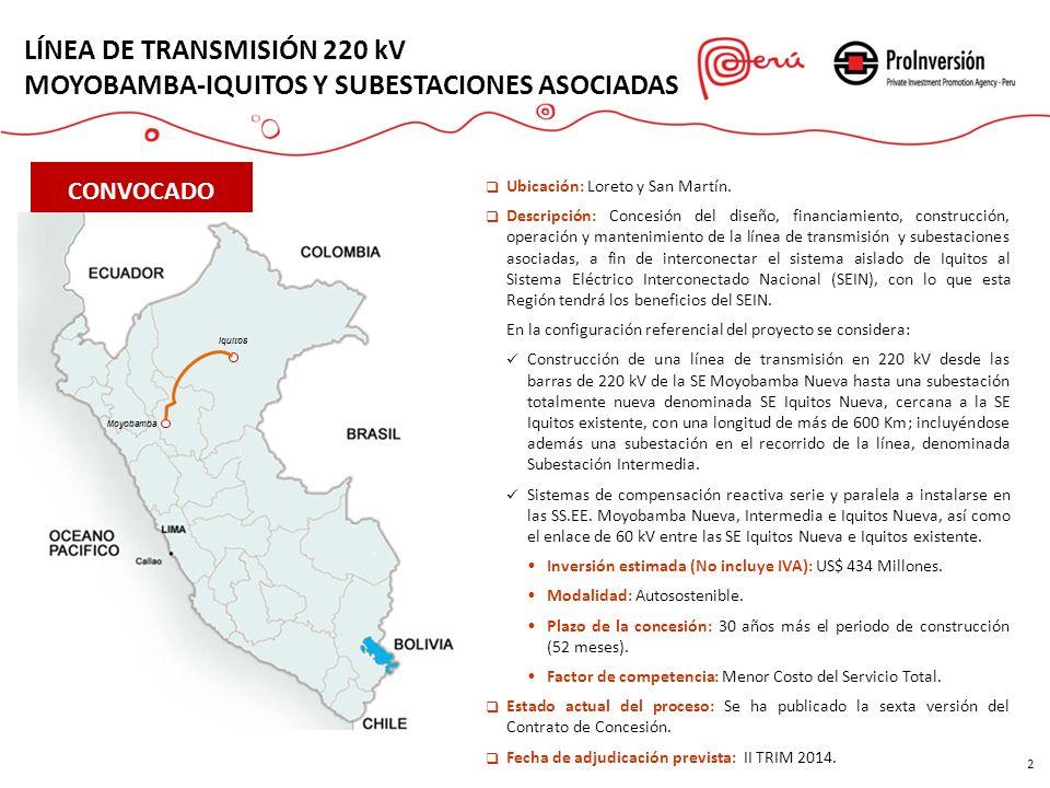 LÍNEA DE TRANSMISIÓN 220 kV