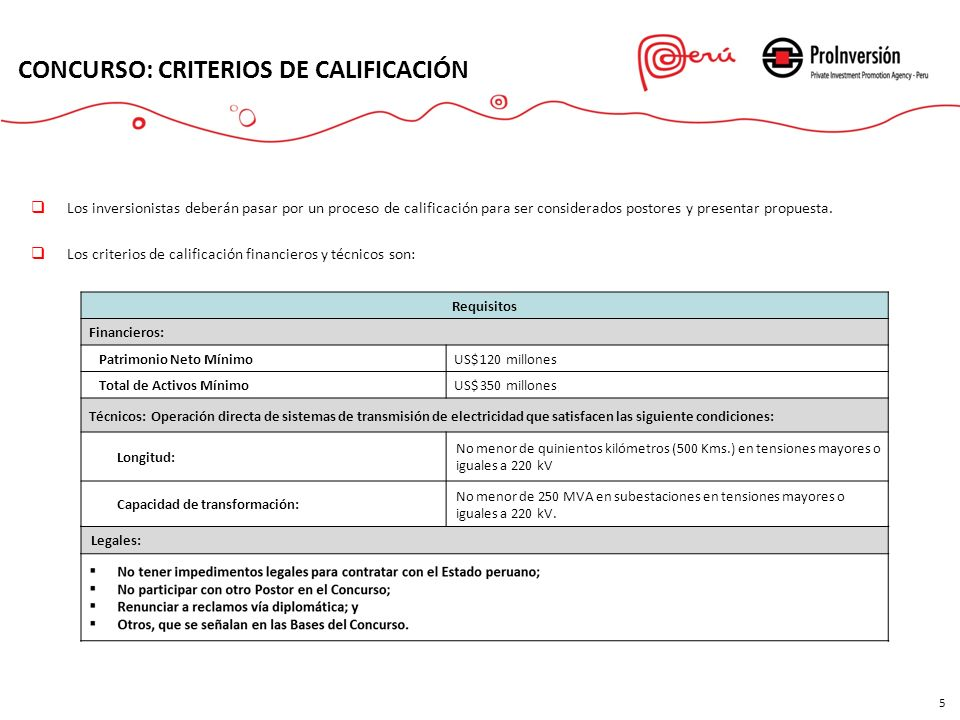 CONCURSO: CRITERIOS DE CALIFICACIÓN