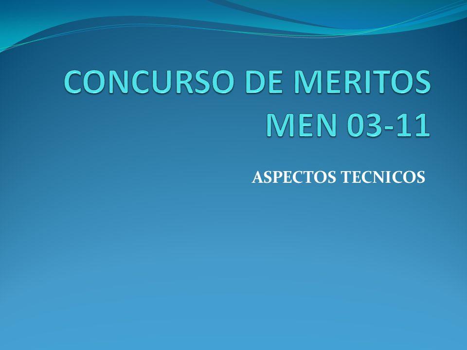 CONCURSO DE MERITOS MEN 03-11