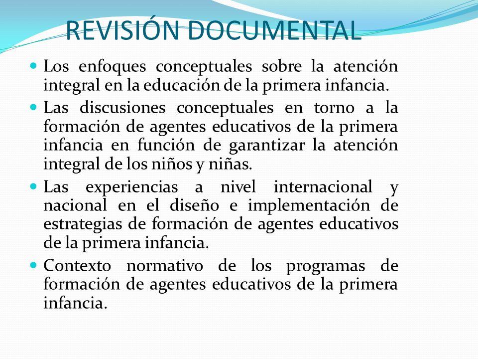 REVISIÓN DOCUMENTAL Los enfoques conceptuales sobre la atención integral en la educación de la primera infancia.