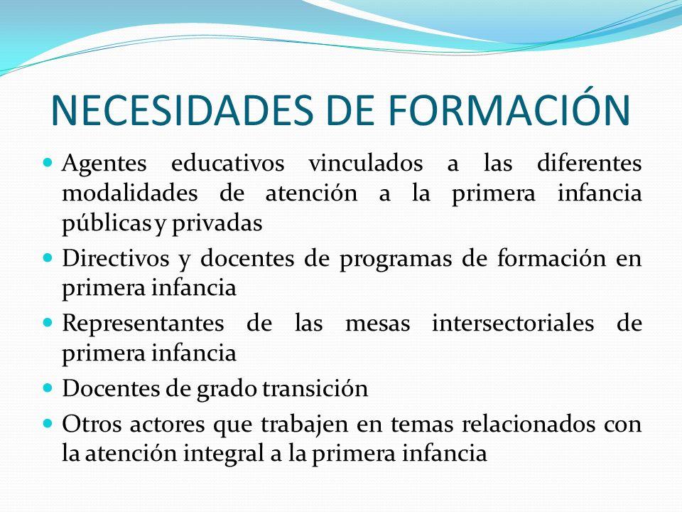 NECESIDADES DE FORMACIÓN