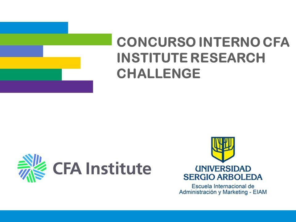 CONCURSO INTERNO CFA INSTITUTE RESEARCH CHALLENGE