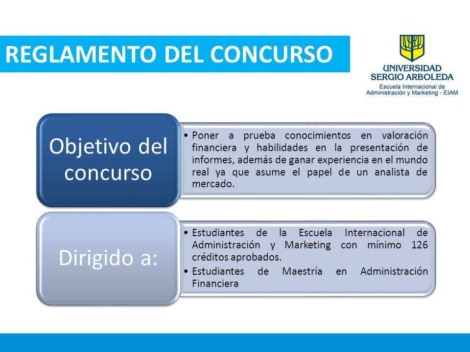 REGLAMENTO DEL CONCURSO