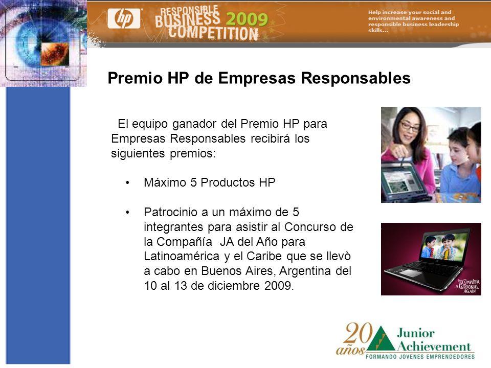 Premio HP de Empresas Responsables