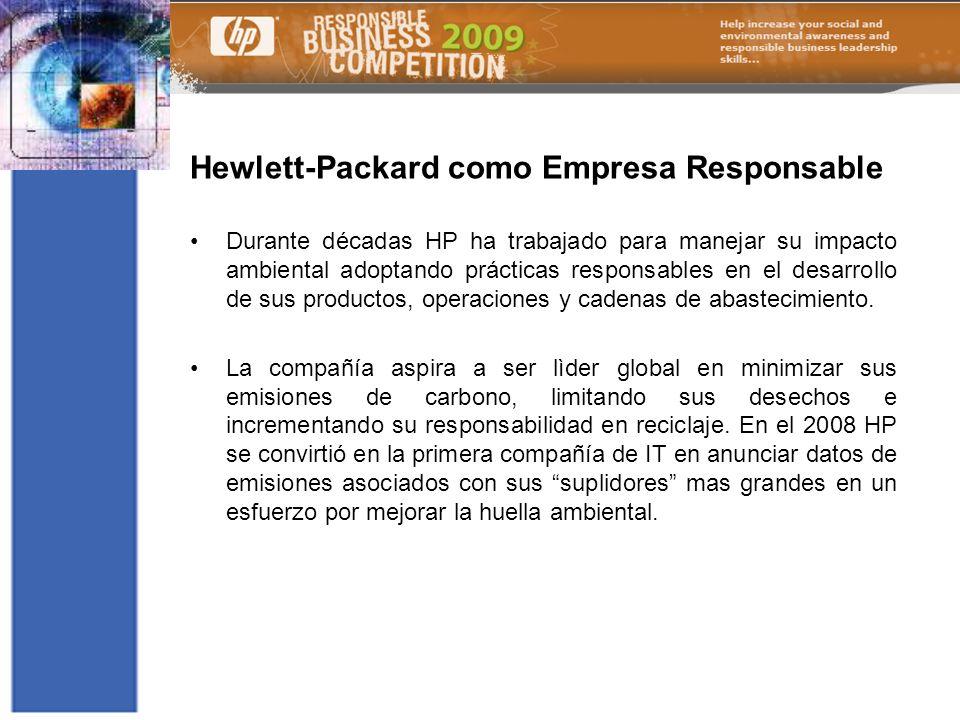 Hewlett-Packard como Empresa Responsable