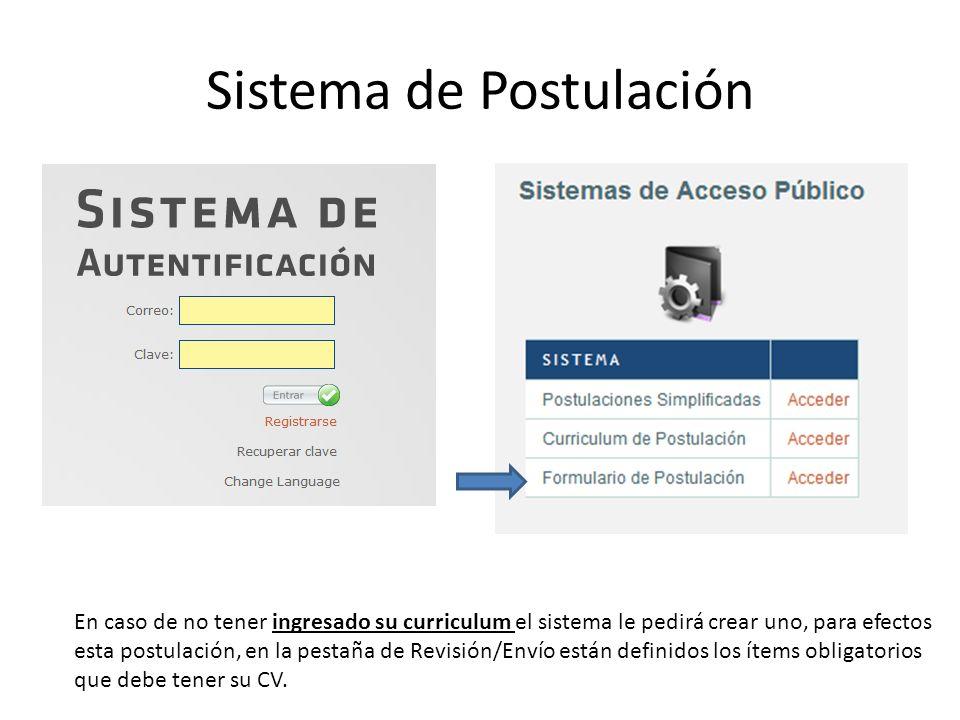 Sistema de Postulación