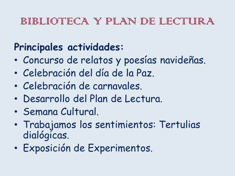 BIBLIOTECA Y PLAN DE LECTURA