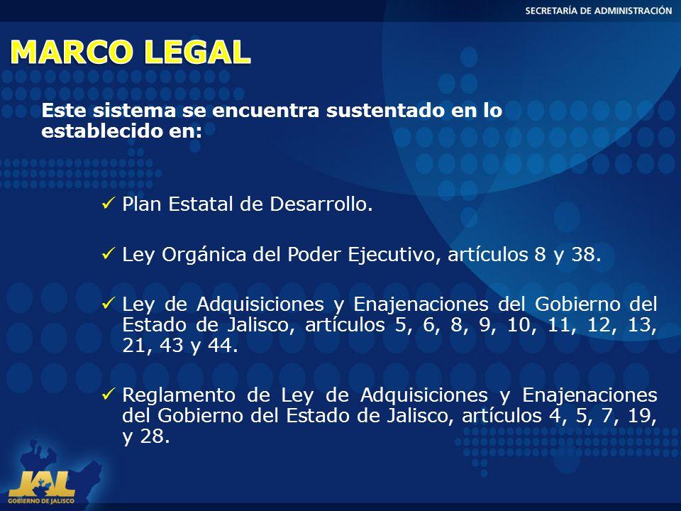 MARCO LEGAL Este sistema se encuentra sustentado en lo establecido en: