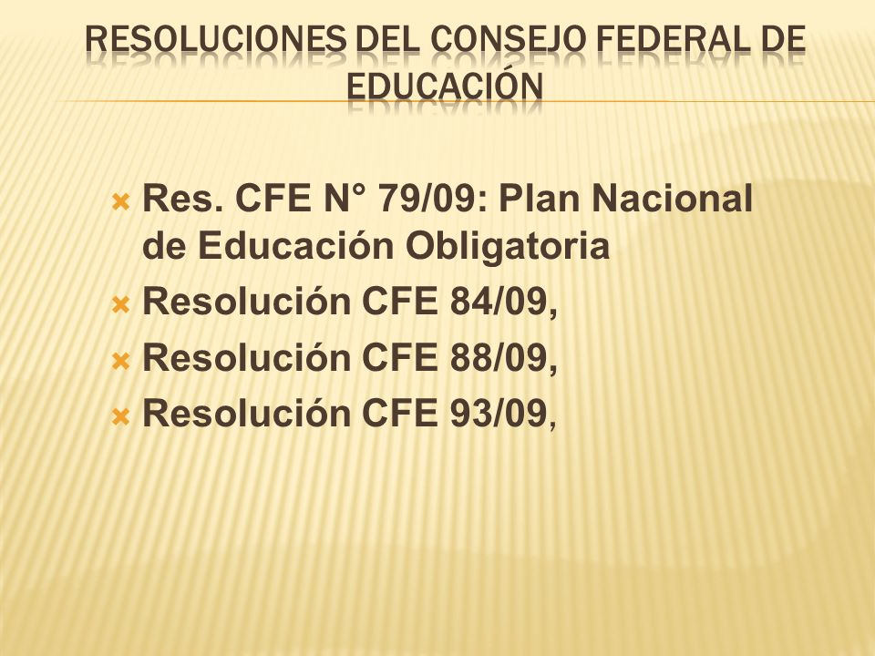 Resoluciones del Consejo Federal de Educación