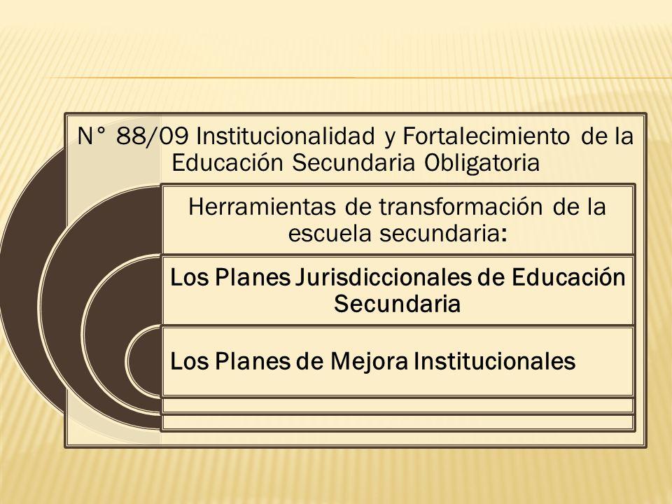 Los Planes Jurisdiccionales de Educación Secundaria