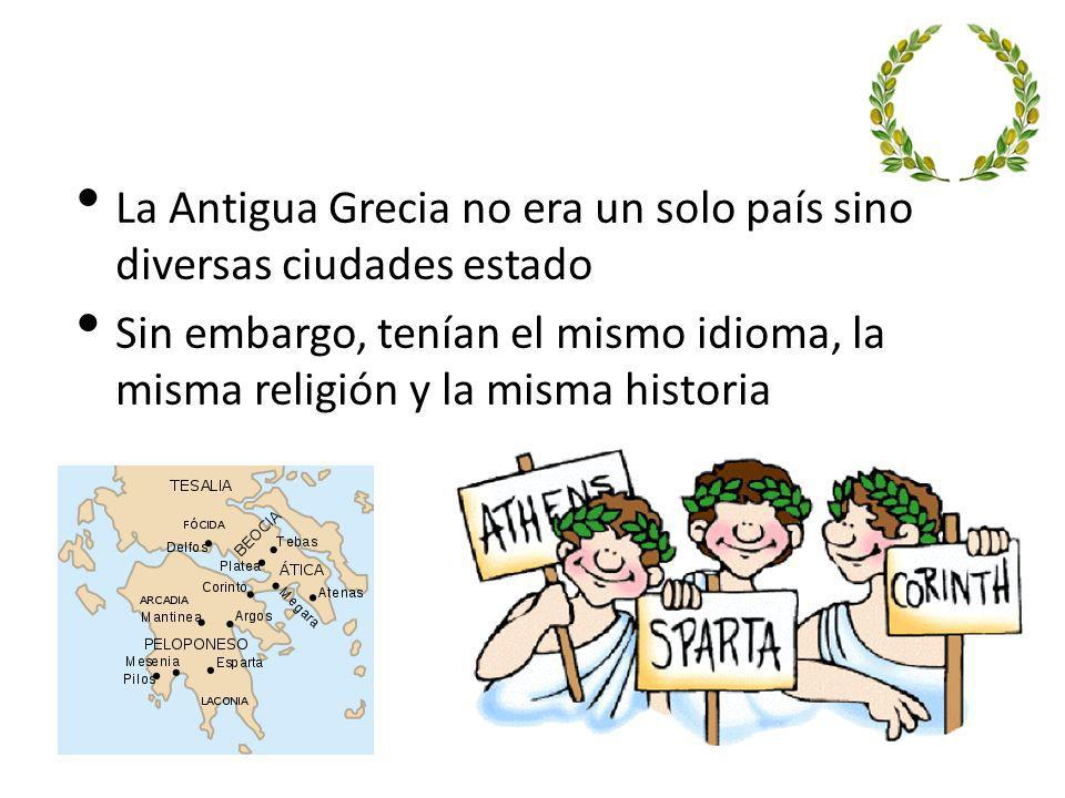 La Antigua Grecia no era un solo país sino diversas ciudades estado