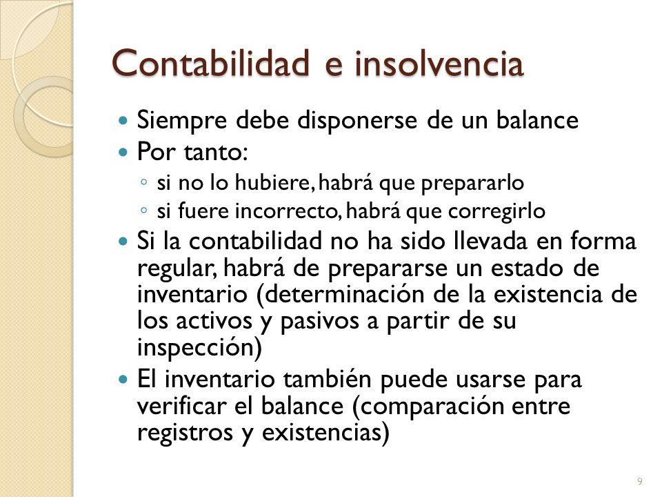 Contabilidad e insolvencia