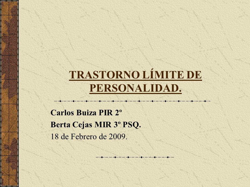 TRASTORNO LÍMITE DE PERSONALIDAD.