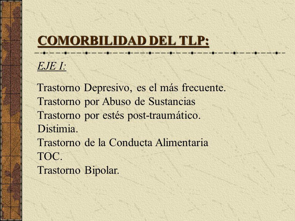 COMORBILIDAD DEL TLP: EJE I: Trastorno por Abuso de Sustancias