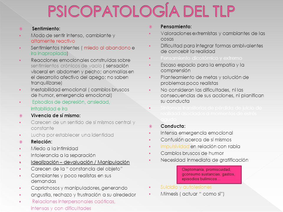 PSICOPATOLOGÍA DEL TLP