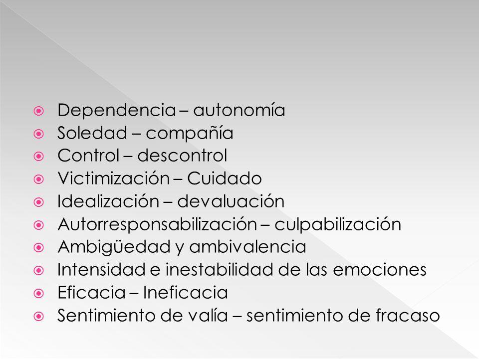 Dependencia – autonomía