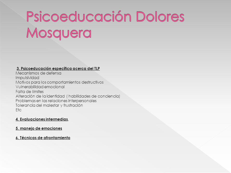 Psicoeducación Dolores Mosquera