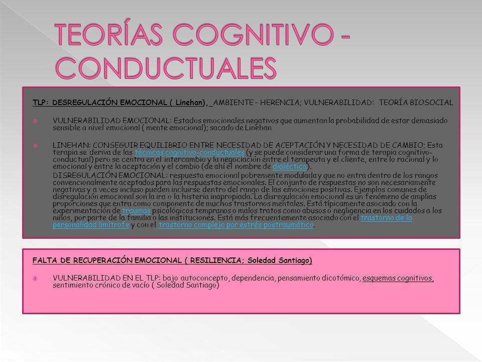 TEORÍAS COGNITIVO - CONDUCTUALES