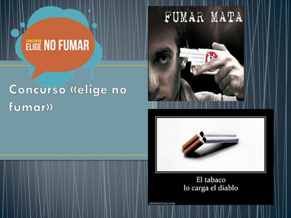 Concurso «elige no fumar»
