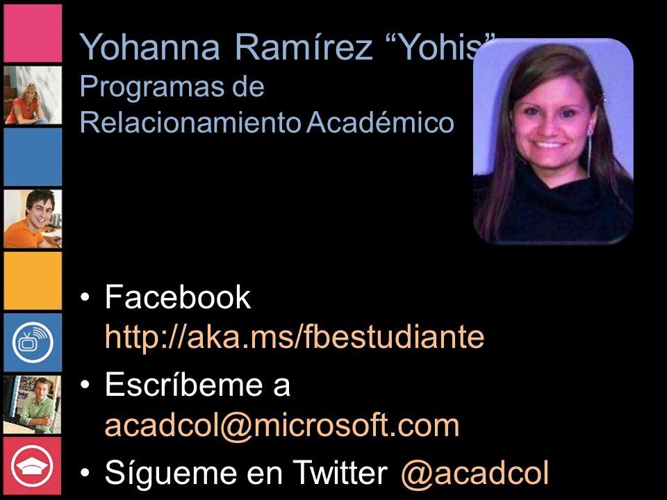 Yohanna Ramírez Yohis Programas de Relacionamiento Académico