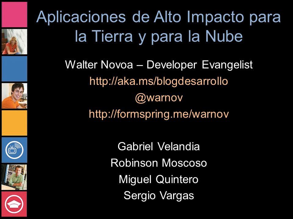 Aplicaciones de Alto Impacto para la Tierra y para la Nube