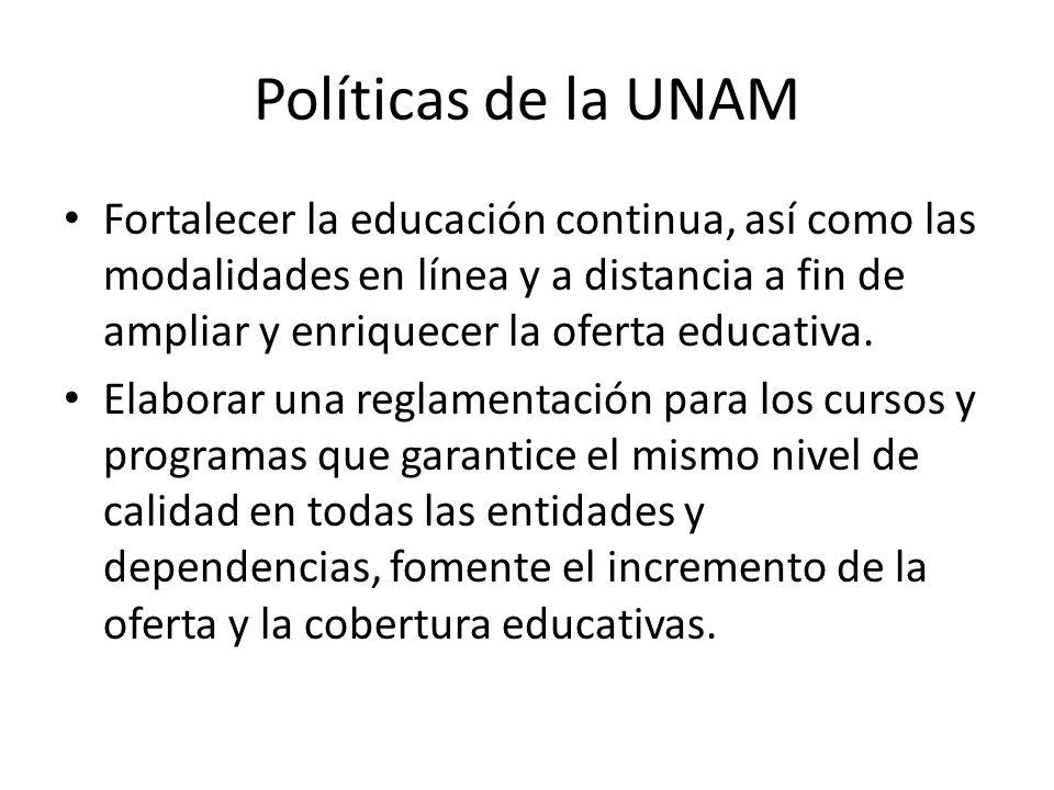 Políticas de la UNAM