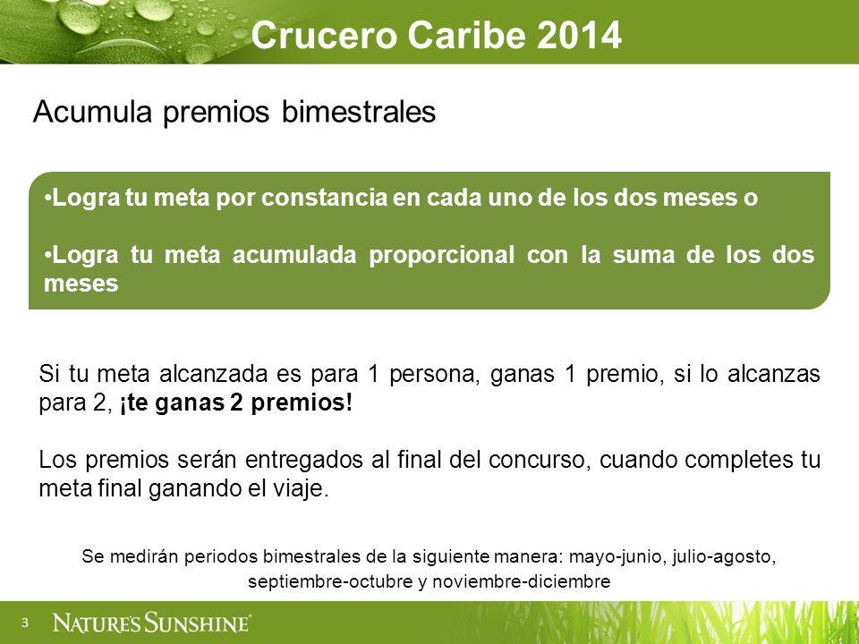 Crucero Caribe 2014 Acumula premios bimestrales