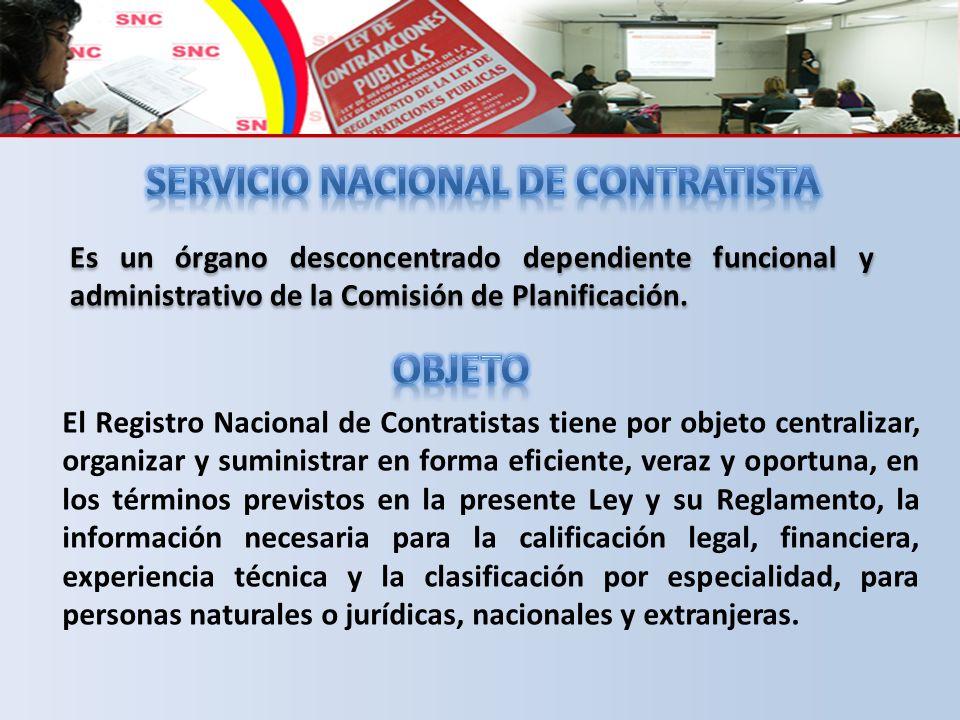 SERVICIO NACIONAL DE CONTRATISTA