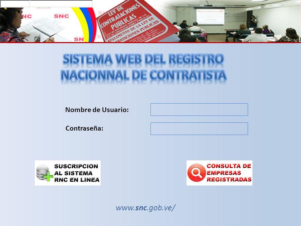SISTEMA WEB DEL REGISTRO NACIONNAL DE CONTRATISTA
