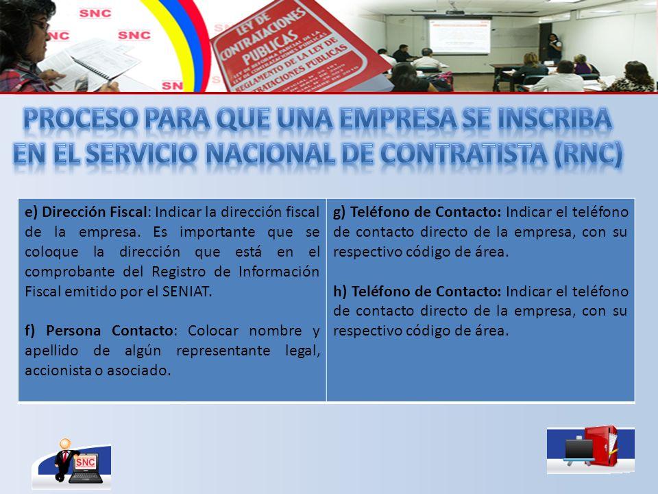 PROCESO PARA QUE UNA EMPRESA SE INsCRIbA EN EL Servicio nacional de contratista (RNC)