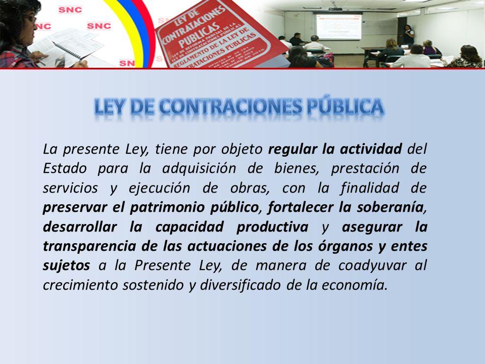 LEY DE CONTRACIONES PÚBLICA