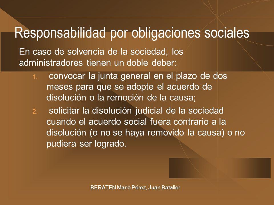 Responsabilidad por obligaciones sociales
