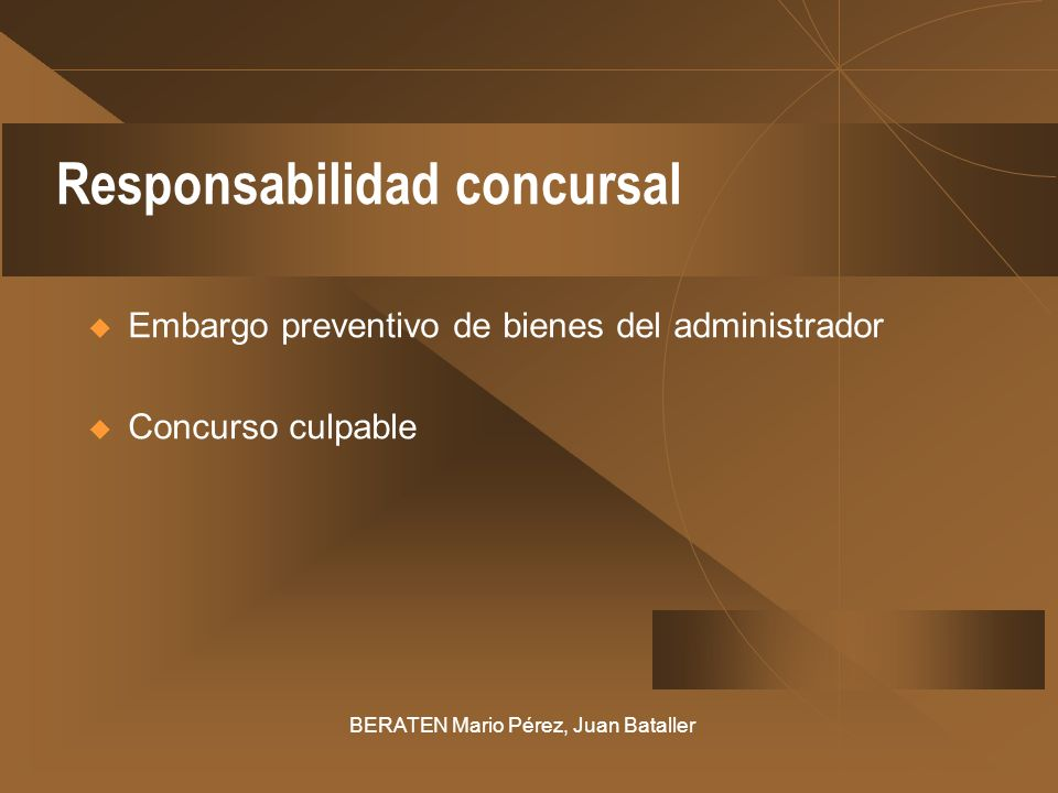 Responsabilidad concursal