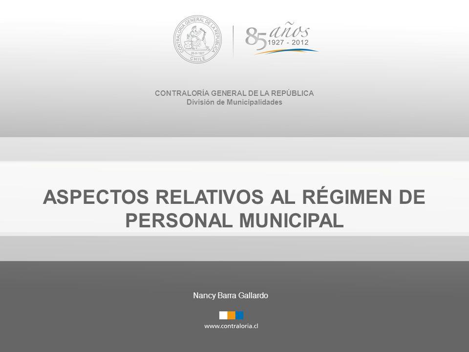 ASPECTOS RELATIVOS AL RÉGIMEN DE PERSONAL MUNICIPAL